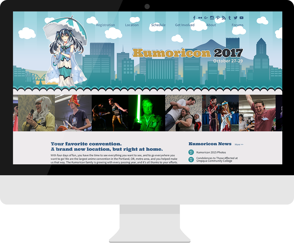 Kumoricon desktop website