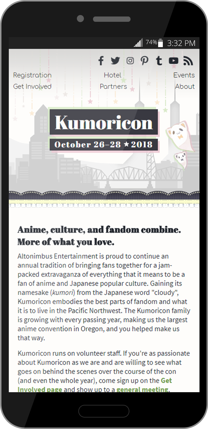 Kumoricon mobile website
