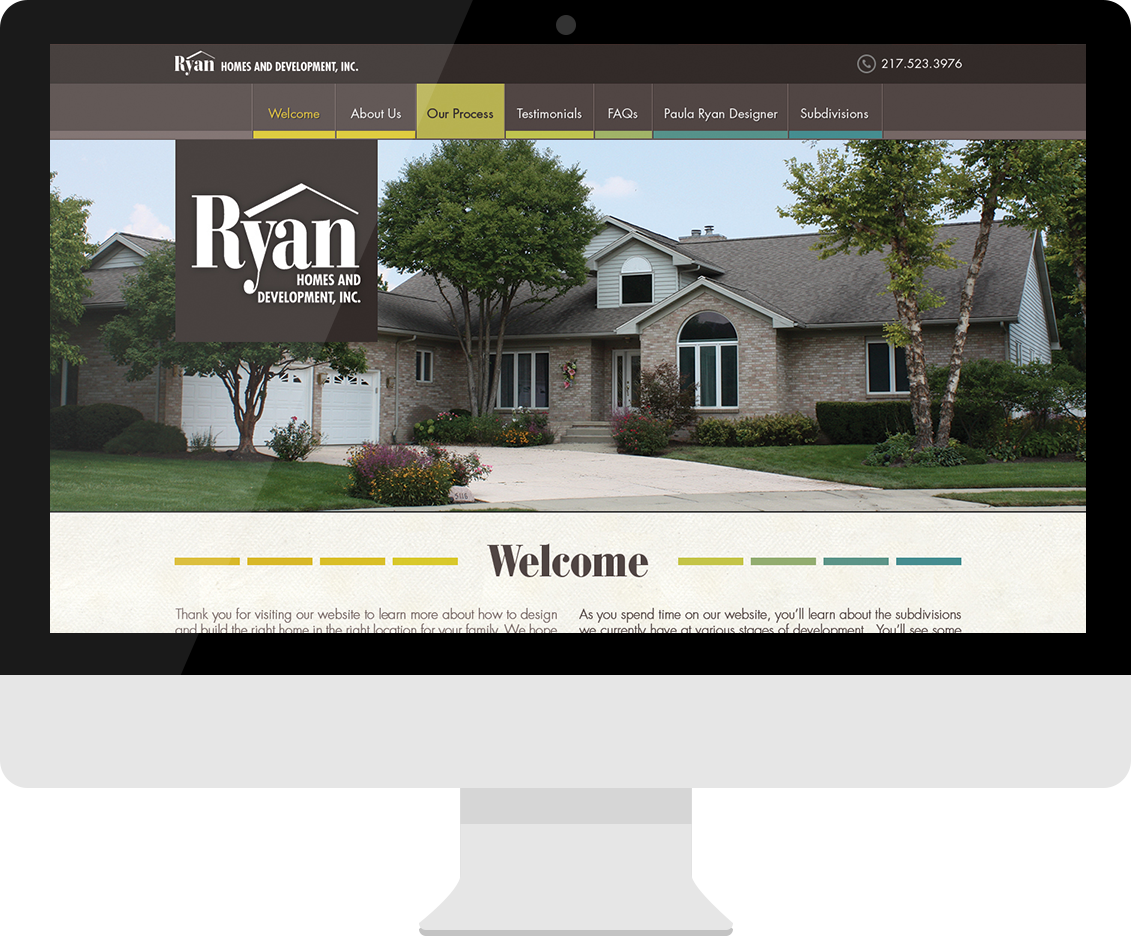 Ryan Homes and Development desktop website